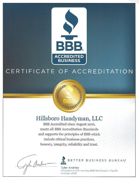 Proud to be accredited by the BBB!